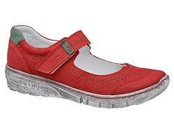 Baleriny KACPER 2-5466-489 Czerwone na rzepy