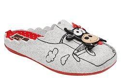 Kapcie MANITU 320560-9 Popielate Pantofle domowe Ciapy