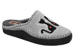 Kapcie MANITU 330201-9 Popielate Pantofle domowe Ciapy