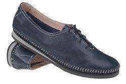 Mokasyny sznurowane buty SIMEN 6870 Granatowe