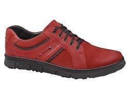 Półbuty KACPER 1-3402-400 Czerwone sznurowane