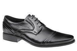 Półbuty buty wizytowe CONHPOL C-2711 Czarne