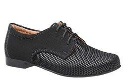 Półbuty komunijne wizytowe buty KMK 215 Czarne AN