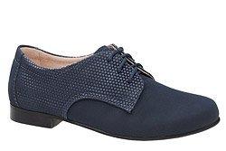 Półbuty komunijne wizytowe buty KMK 215 Granatowe AN