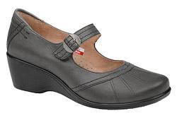 Półbuty na koturnie buty AXEL Comfort 1147 Grafit