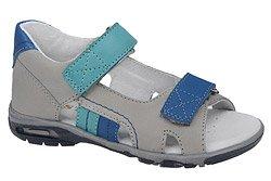 Sandałki MIDO 327 Szare na rzepy dla chłopca