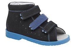 Sandałki Profilaktyczne Ortopedyczne Buty DAWID 1042 Czarne CZN L20