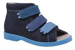 Sandałki Profilaktyczne Ortopedyczne Buty DAWID 1042 Granatowe GNP