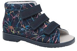 Sandałki Profilaktyczne Ortopedyczne Buty DAWID 1042 Granatowe M8