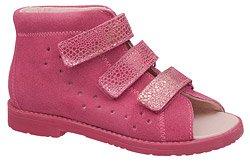 Sandałki Profilaktyczne Ortopedyczne Buty DAWID 1042 Różowe KL-115