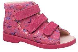 Sandałki Profilaktyczne Ortopedyczne Buty DAWID 1042 Różowe M1
