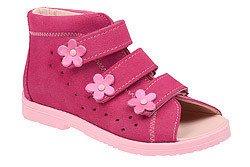 Sandałki Profilaktyczne Ortopedyczne Buty DAWID 1042 Różowe RC