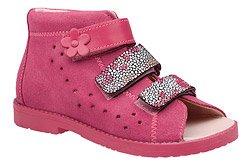 Sandałki Profilaktyczne Ortopedyczne Buty DAWID 1042 Różowy RCKP