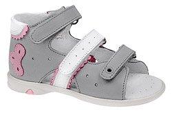 Sandałki dla dziewczynki KORNECKI 3713 Popielate
