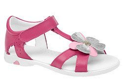 Sandałki dla dziewczynki skóra KORNECKI 3983 Różowe