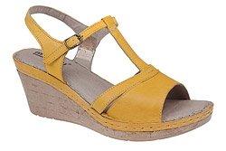 Sandały MANITU 910508-6 Żółte