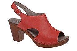 Sandały MANITU 910583-4 Czerwone Peep Toe
