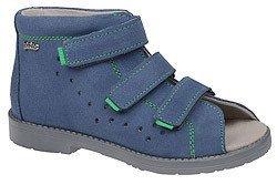 Sandały Profilaktyczne Ortopedyczne Buty DAWID 1043 Niebieski GJ