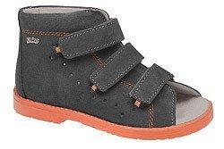Sandały Profilaktyczne Ortopedyczne Buty DAWID 1043 Szary SZ