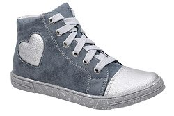 Sneakersy Trzewiki KORNECKI 6135 Granatowe Srebrne nieocieplane