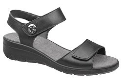 Włoskie Sandały IMAC 708100 Czarne na rzepy