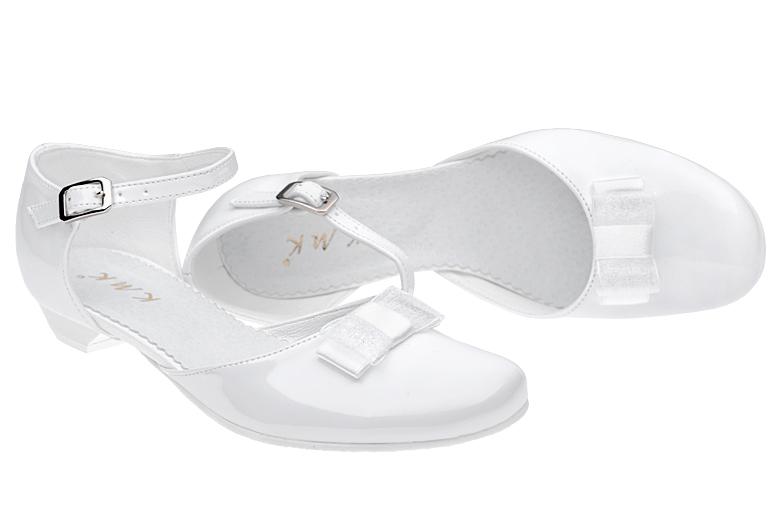 Pantofelki Komunijne Dla Dziewczynki Kmk 204 Biale Neptunobuwie Pl