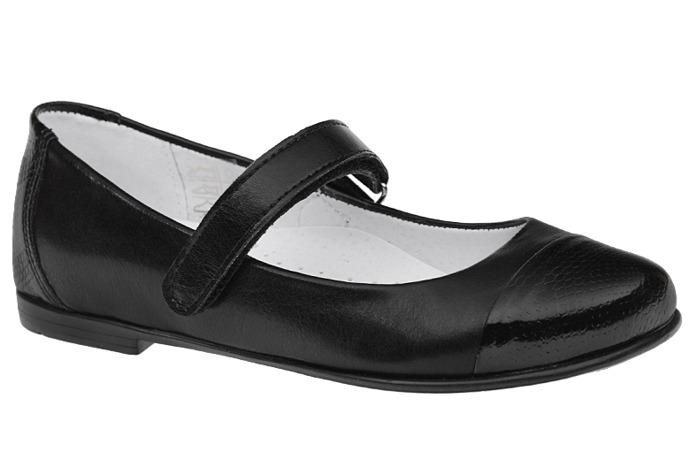 Balerinki czarne buty KORNECKI 4679 Lakierki