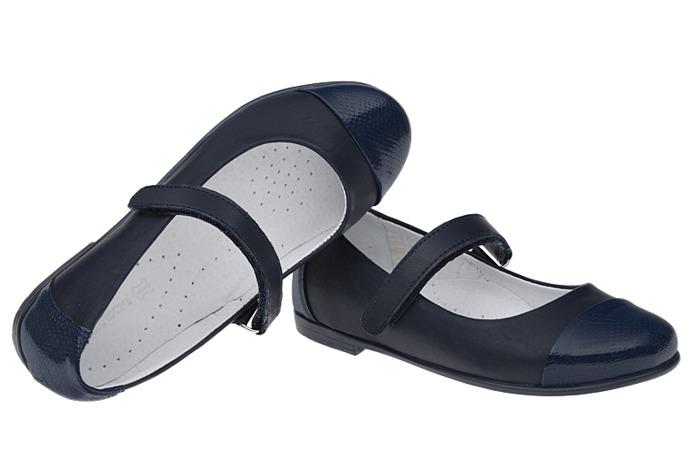Balerinki granatowe buty KORNECKI 4679 Lakierki