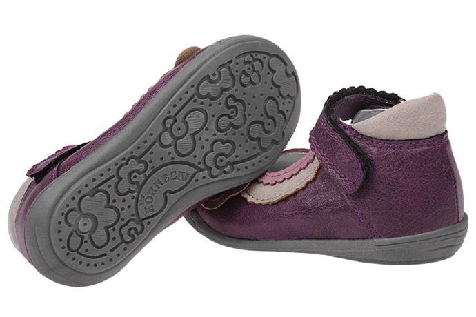 Balerinki na rzepy buty KORNECKI 4010 Fioletowe