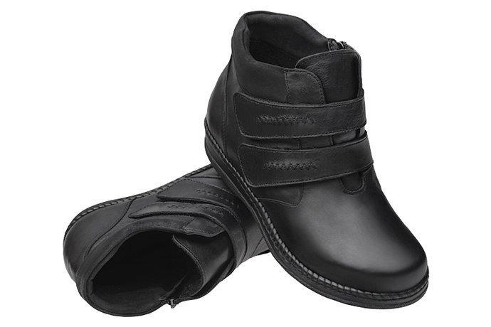 Botki AXEL Comfort 4379 Czarne H na 2-rzepy