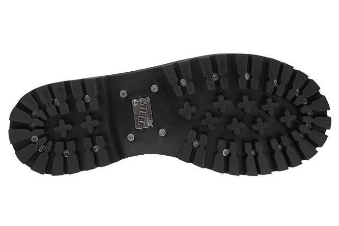 Glany STEEL 10-tki 105/O Czarne 10-dziurek