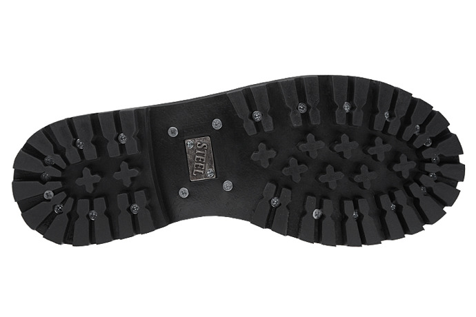 Glany STEEL 15-tki 136/O XXL Czarne 15-dziurek