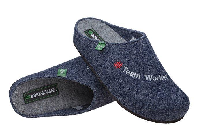 Kapcie Dr BRINKMANN 220255-5 Granatowe Pantofle domowe Ciapy