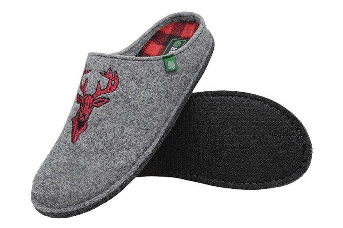 Kapcie Dr BRINKMANN 220258-9 Popielate Pantofle domowe Ciapy