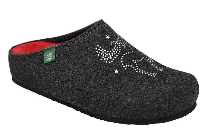 Kapcie Dr BRINKMANN 320539-9 Antracytowe Pantofle domowe Ciapy