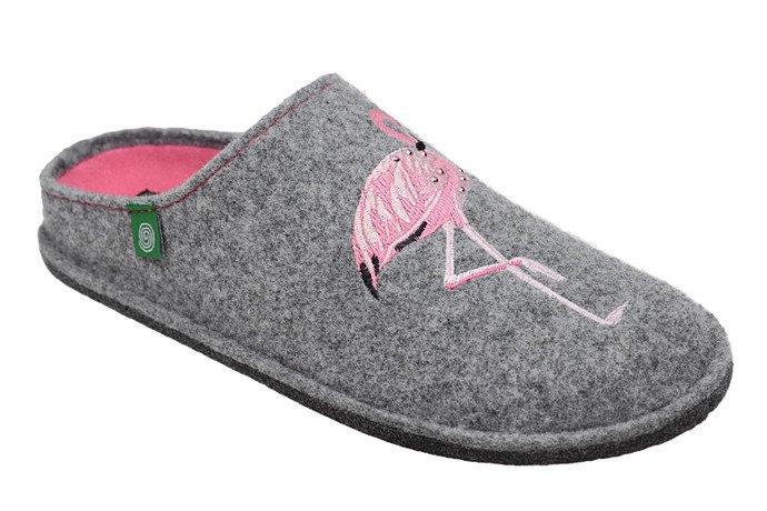 Kapcie Dr BRINKMANN 320544-9 Popielate Pantofle domowe Ciapy