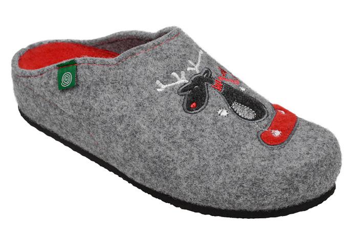 Kapcie Pantofle domowe Ciapy Dr Brinkmann 320484-9 Popielate