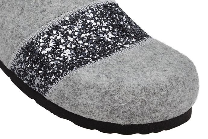 Kapcie Pantofle domowe Ciapy Dr Brinkmann 320501-9 Popielate