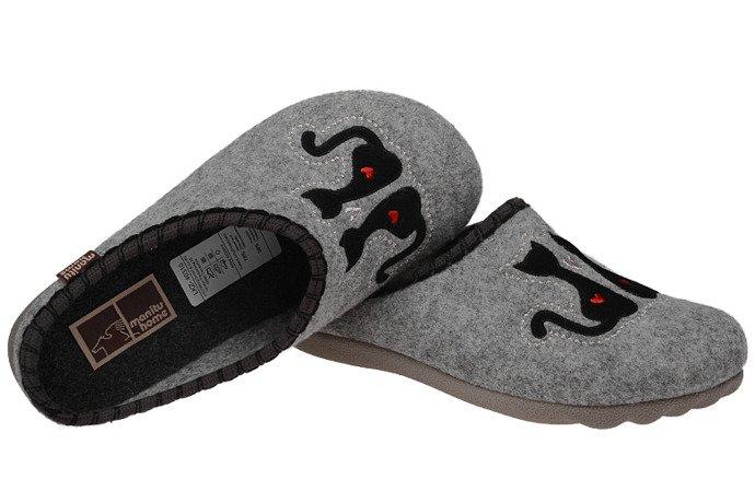 Kapcie Pantofle domowe Ciapy MANITU 320469-9 Popielate