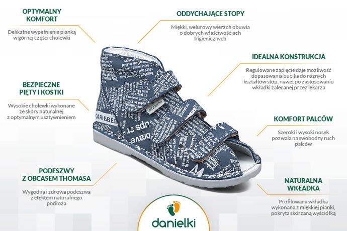 Kapcie profilaktyczne buty DANIELKI T105L T115L Jeans Gazeta
