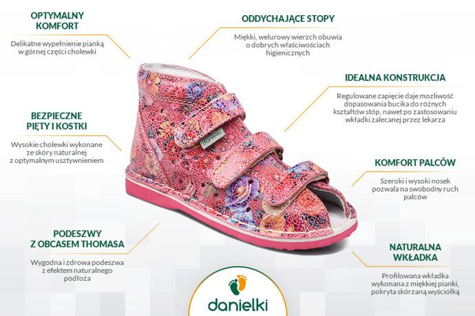 Kapcie profilaktyczne buty DANIELKI T125L T135L Fantazja