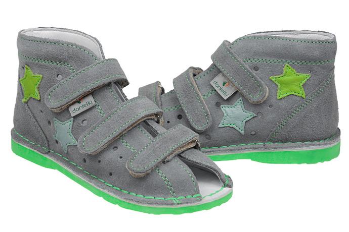 Kapcie profilaktyczne buty DANIELKI TA125 TA135 Szary Zielony