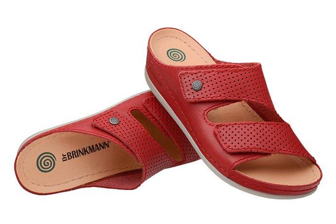 Klapki Dr Brinkmann 700568-4 Czerwone
