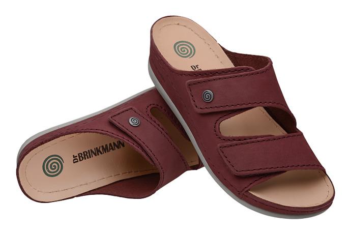 Klapki Dr Brinkmann 701049-41 Bordowe