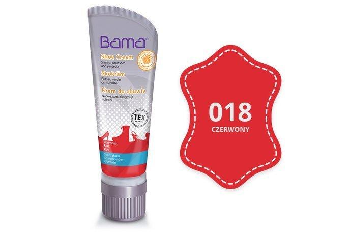 Krem do obuwia BAMA z woskiem Carnauba 018 Czerwony