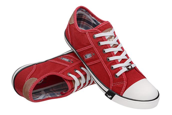 Kultowe Trampki MUSTANG 44A061 Czerwone