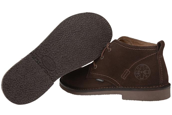 Kultowe trzewiki buty STEEL 284-W6 Brązowe