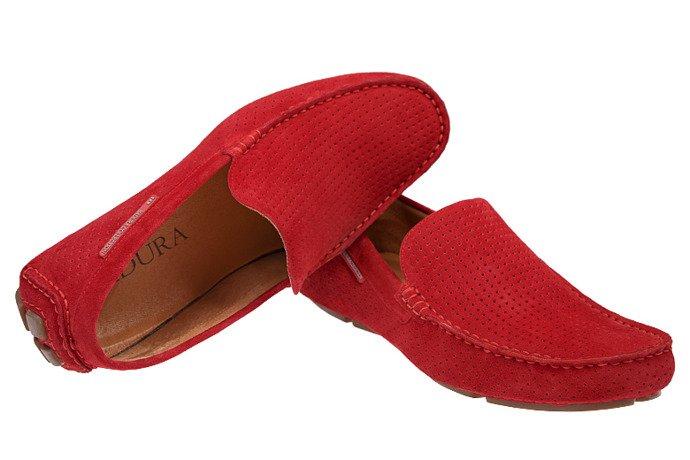 Mokasyny męskie BADURA 3219 Czerwone