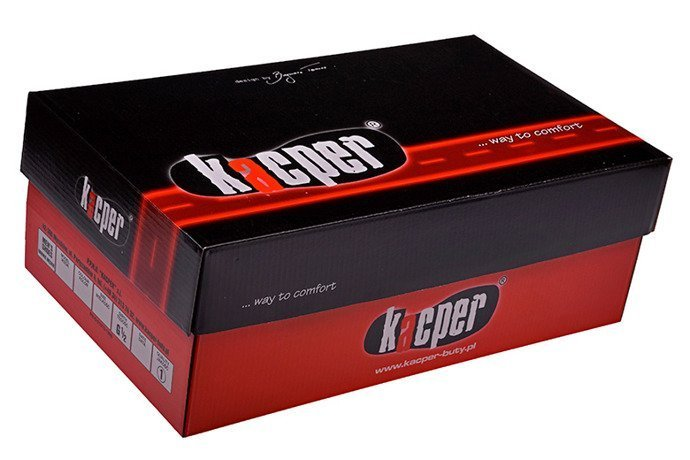Półbuty KACPER 1-2702-109 H Czarne sznurowane
