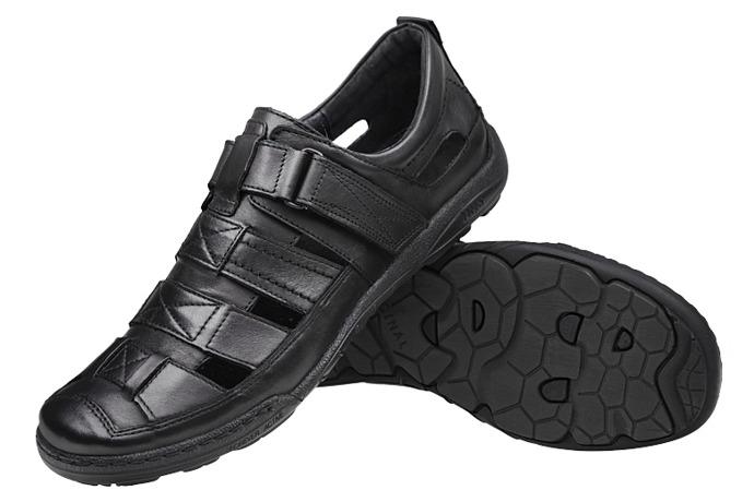 Półbuty Sandały KACPER 1-4208-253 Czarne XXL
